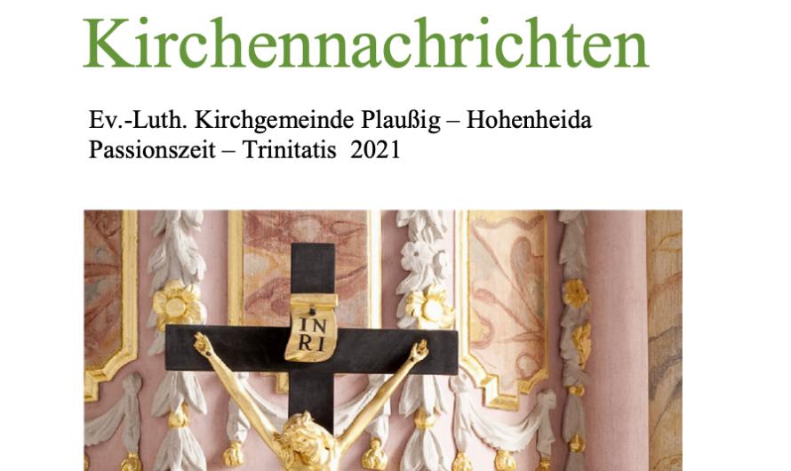 Kirchennachrichten Passionszeit–Trinitatis 2021