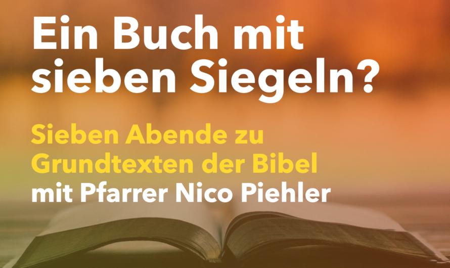 """""""Grundtexte der Bibel"""" ab 15.4. über Zoom"""