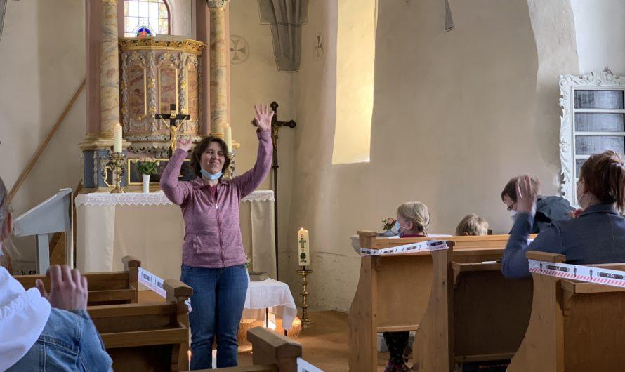 Bilder von der Familienkirche am 9. Mai 2021 in Seehausen
