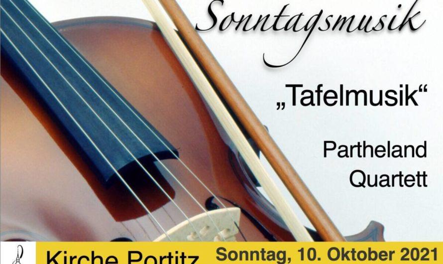 Sonntagsmusik mit dem Parthelandquartett in Portitz